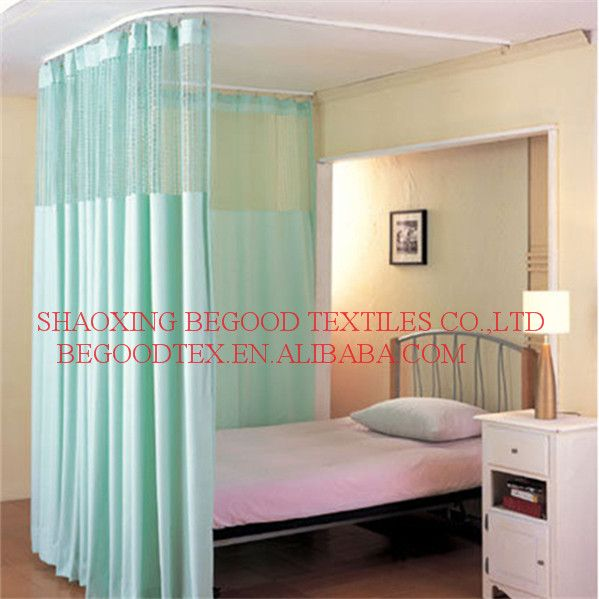 100% Polyester Flame Retardant Cubicle Curtain For Hospital Bed Curtain,  View Office Cubicle Curtains, Product Details From Shaoxing Bigu Textiles  Co., ...