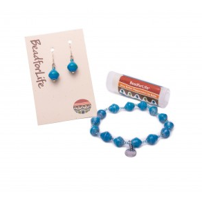 BeadForLife Gift Set  $20 Creates sustainable opportunities for women to lift their families out of extreme poverty by connecting people worldwide in a circle of exchange that enriches everyone. This GIFT SET includes one bracelet, one pair of matching earrings and a lip balm. Perfect as a stocking stuffer or for a secret snowflake!