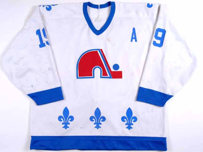 Joe Sakic Retro Hockey Jersey Quebec Nordiques 19 New Blue or White Body  Color