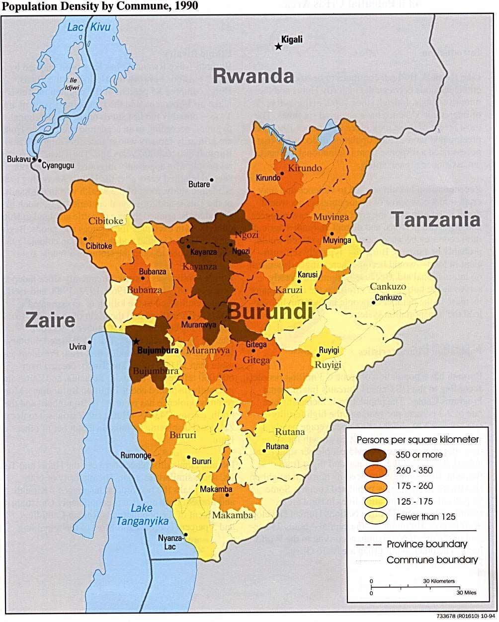 Lake Tanganyika On A Map Of Africa.Population Density Of Burundi History Maps Pinterest