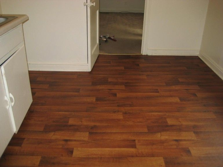 Glossy Brown Pattern Linoleum Flooring Roll Laminate