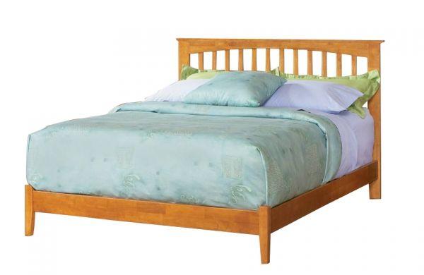 Atlantic Furniture Brooklyn Caramel Latte King Bed With Open Foot Rail Atlantic Furniture Furniture King Beds
