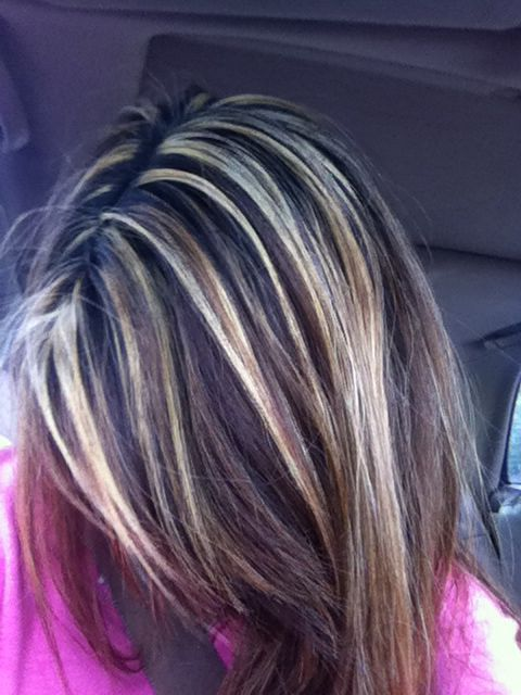 Dark Brown With Blonde Highlights Google Search Hair Pinterest
