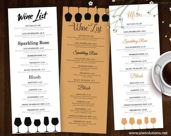 tapas menu template - wine list wine menu menu wine and flyer template