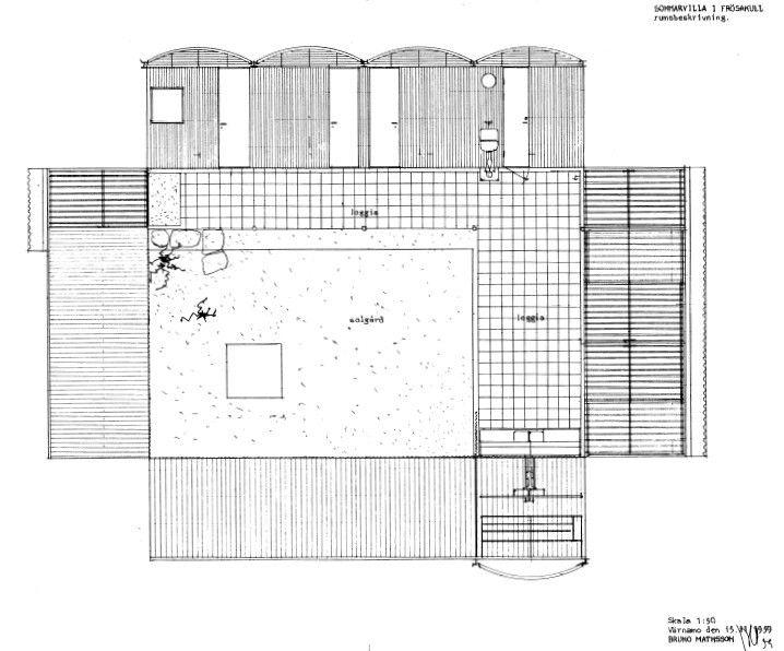 Plans Of Architecture Bruno Mathsson Mathsson Summer House 1960 Summer House Architecture House