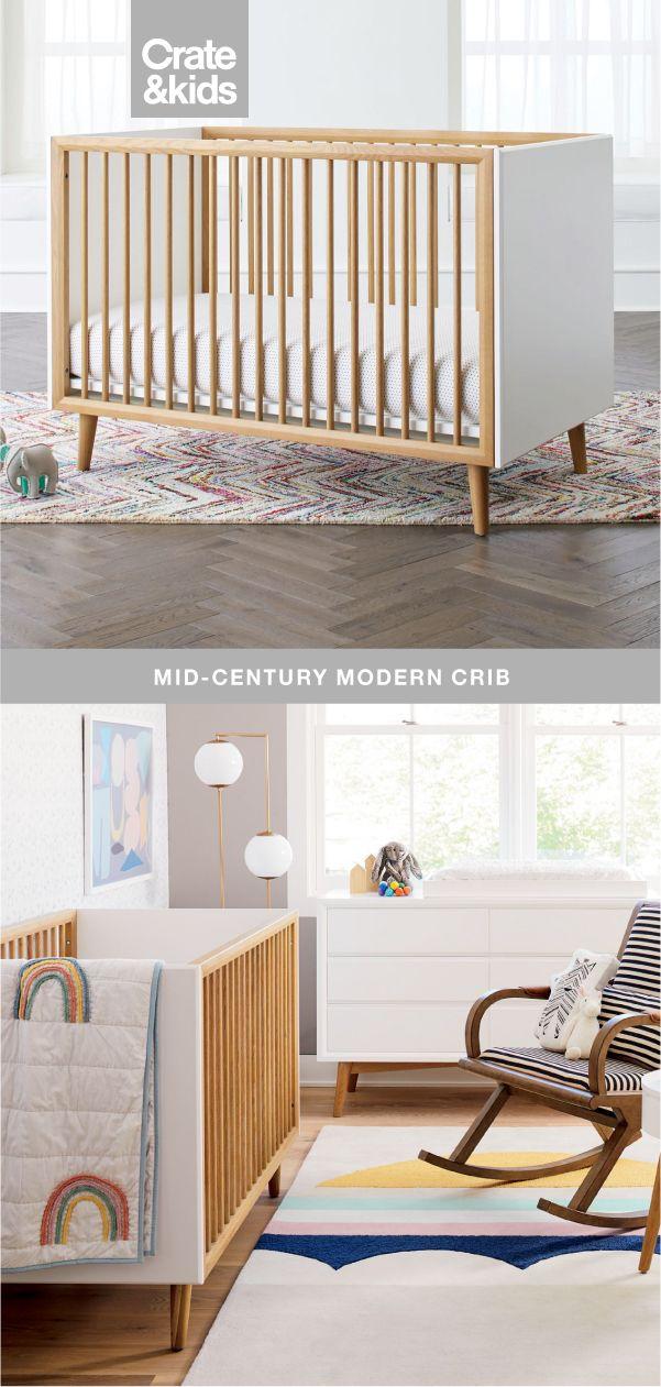 Best Mid Century 3 In 1 Spindle Crib Mid Century Nursery 400 x 300