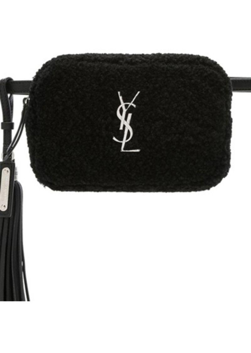 1807f14d5 YSL Saint Laurent fanny pack belt bag on sale!!! Shearling Monogramme Lou  Hip Belt with Pouch