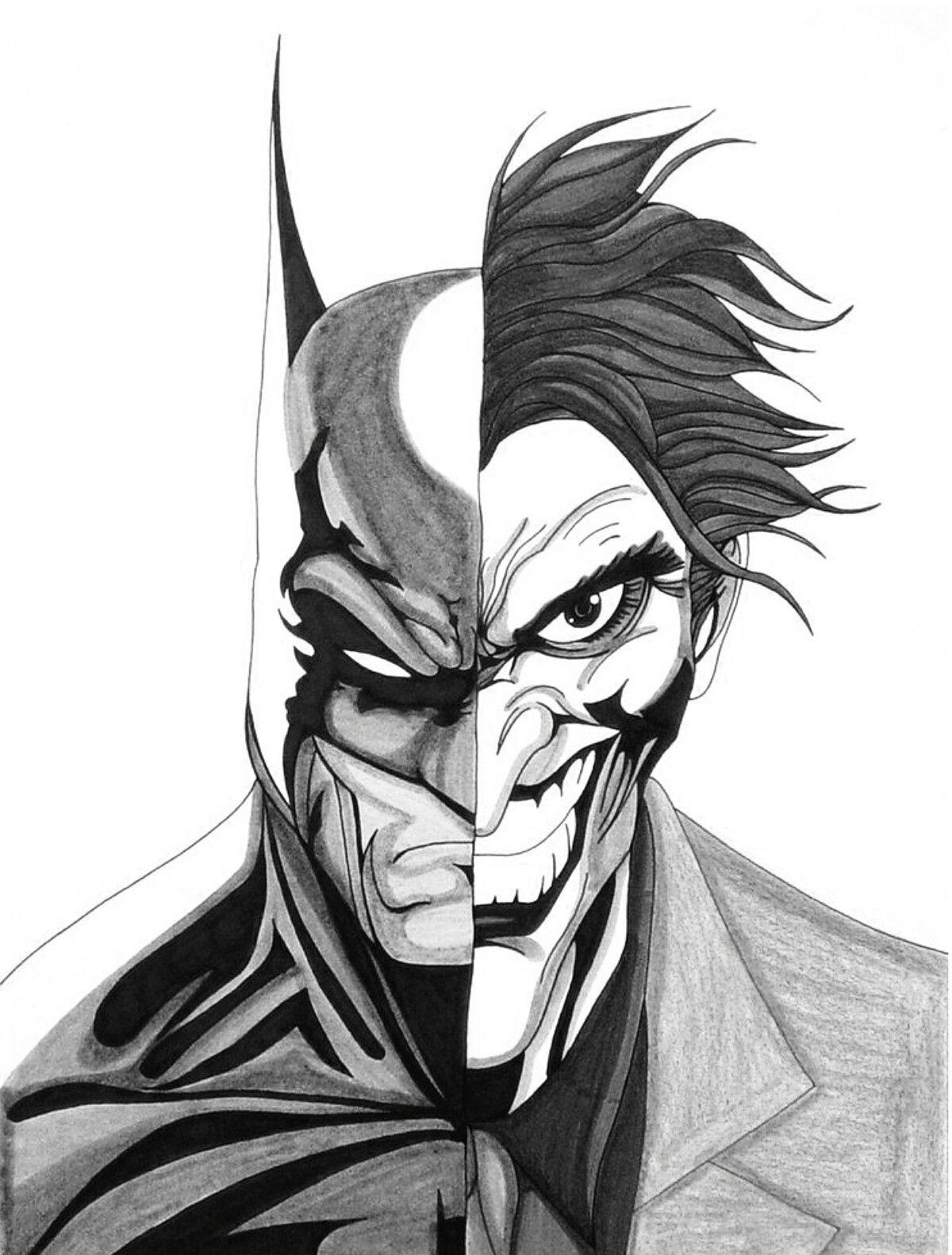 Half Batman Half Joker The Joker Pinterest Batman Cartoon
