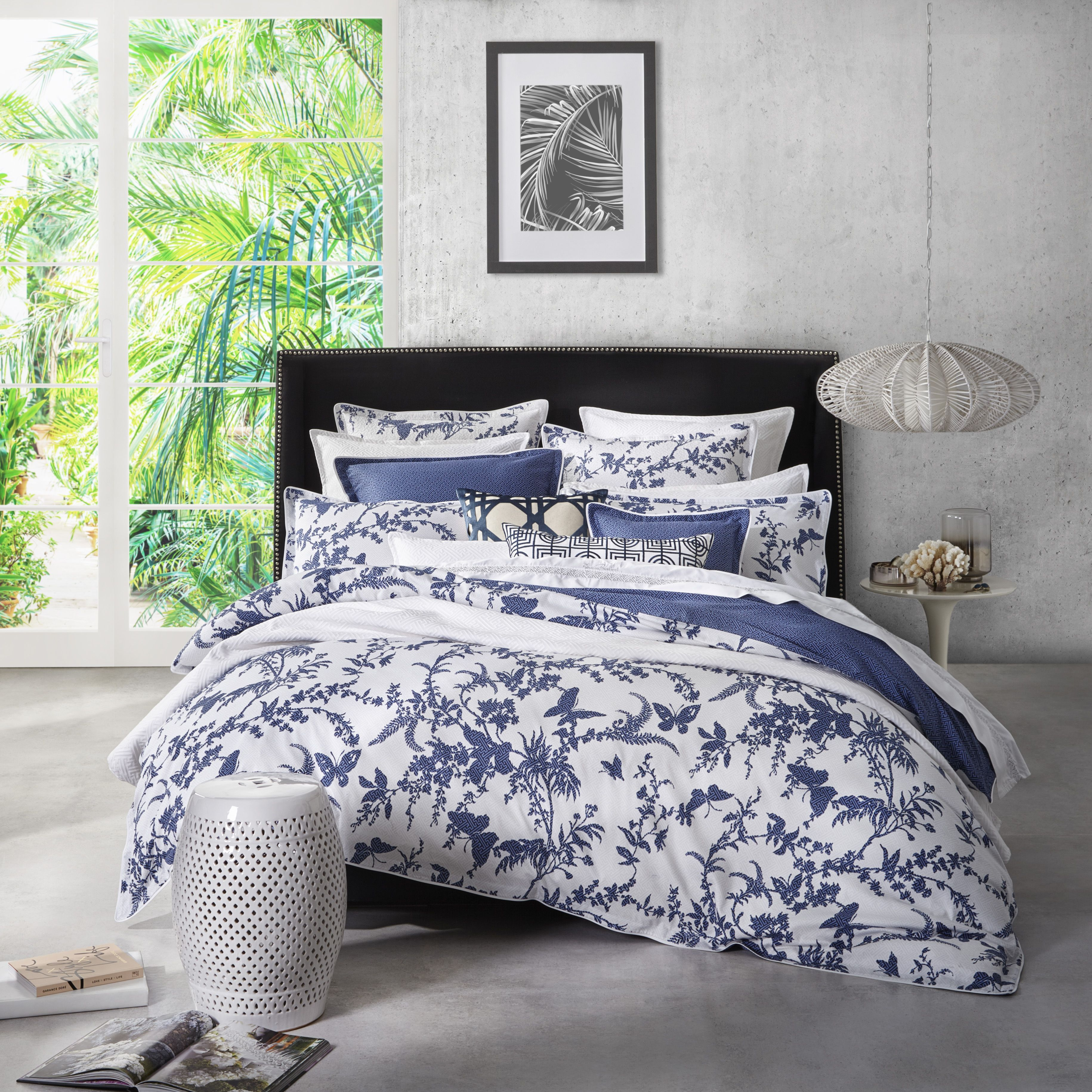 Florence Broadhurst  Tropical Navy Quilt Cover Set #Navy #Blue