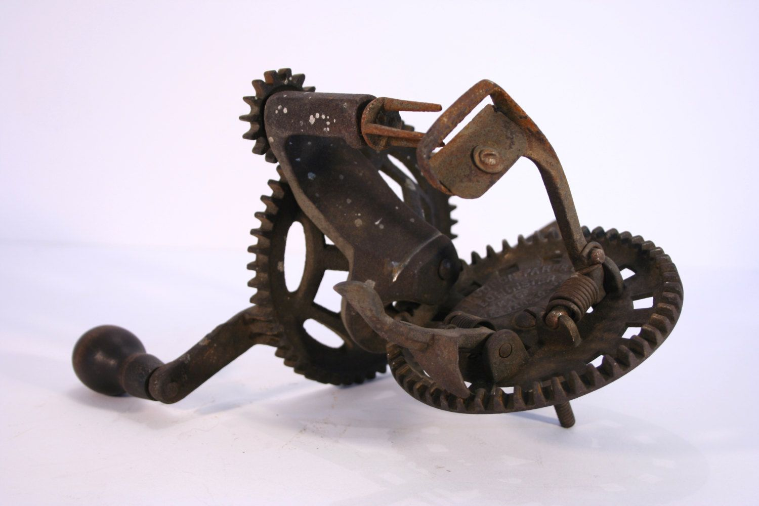 Antique Apple Peeler -- Hudson Parer Company -- 19th Century Tools -- Antique Tools -- Gift for Him -- Cabin Decor -- BA1400 by Revendeur on Etsy