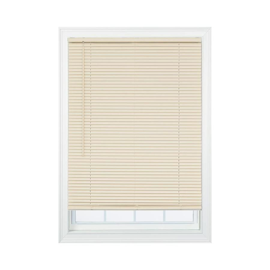 Project Source 1 In Cordless Ivory Vinyl Room Darkening Mini Blinds Common 27 5 In Actual 27 5 In X 64 In Ccddx3064 In 2020 Vinyl Room Mini Blinds Vinyl Mini Blinds