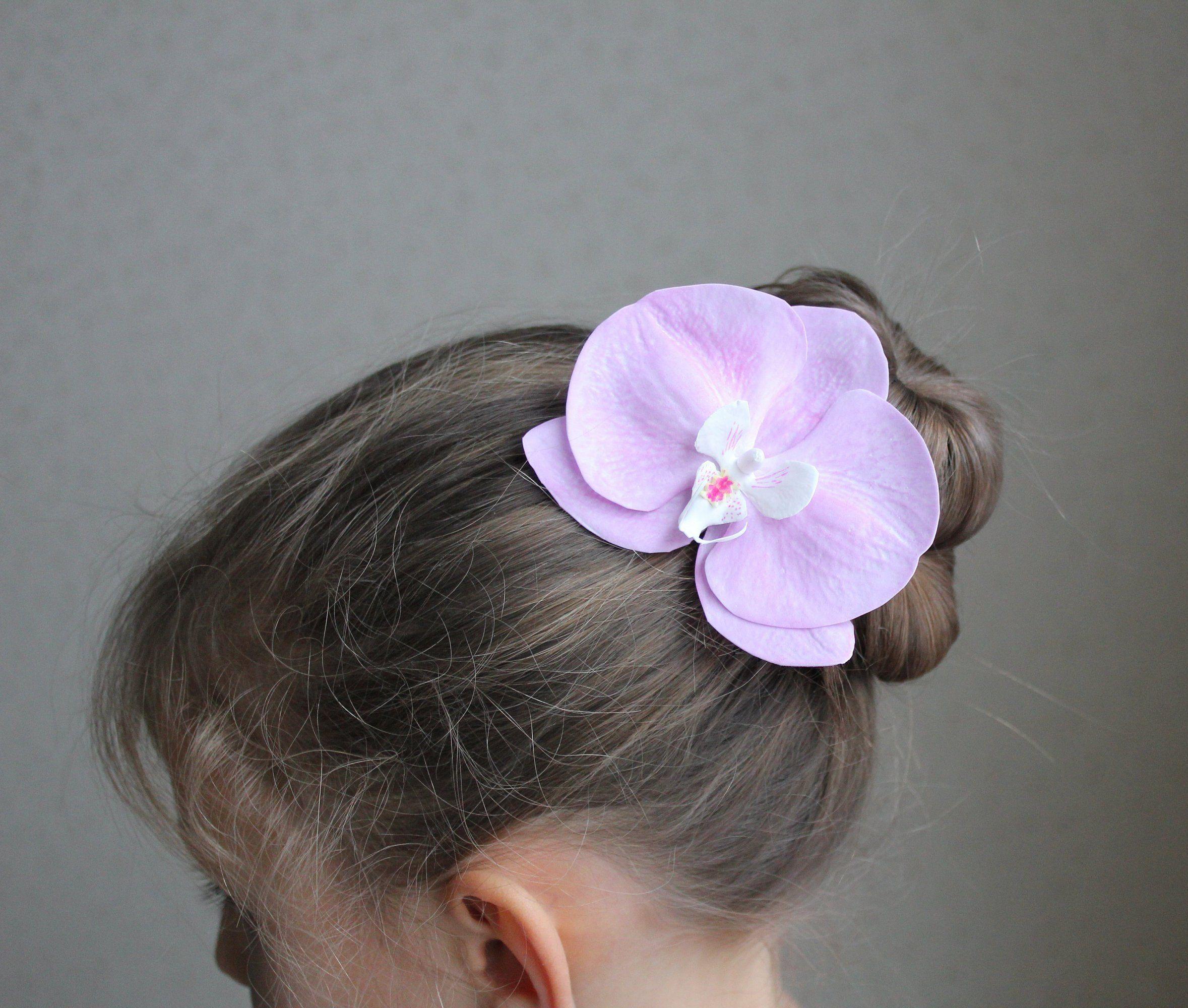 Blush Flower Hair Pins Bridal Flower Hair Clip Wedding Flower Hair Piece Orchid Hair Pins Orchid Hair Pins Bridal Hair Flower Clip Flower Hair Pin
