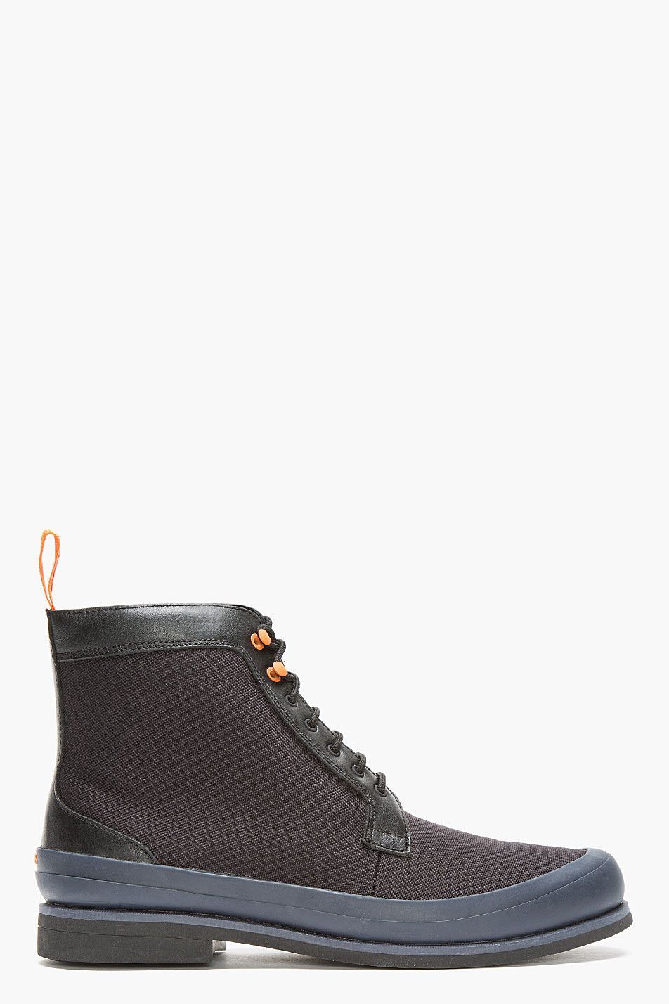 Swims Brown Blue Rubber Trimmed Harry Boots Boots Men Sneakers Men Boots
