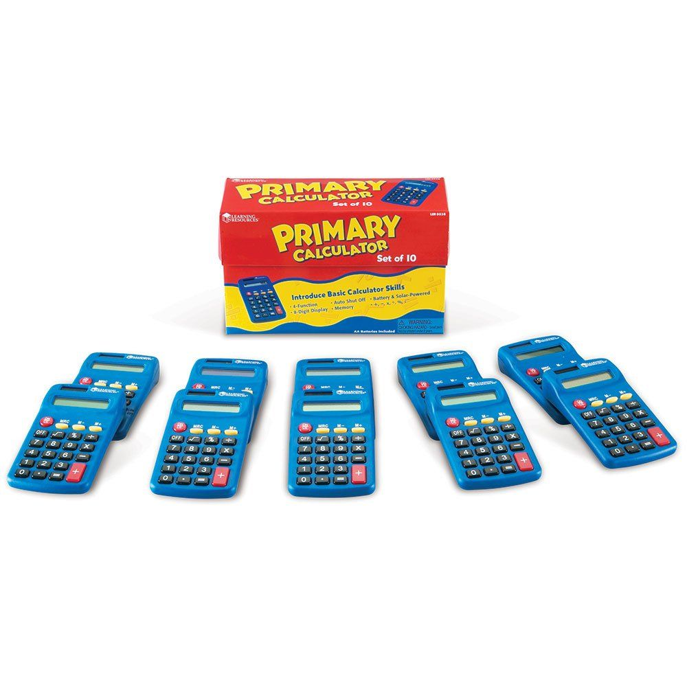 Learning resources primary calculator set of 10 learning