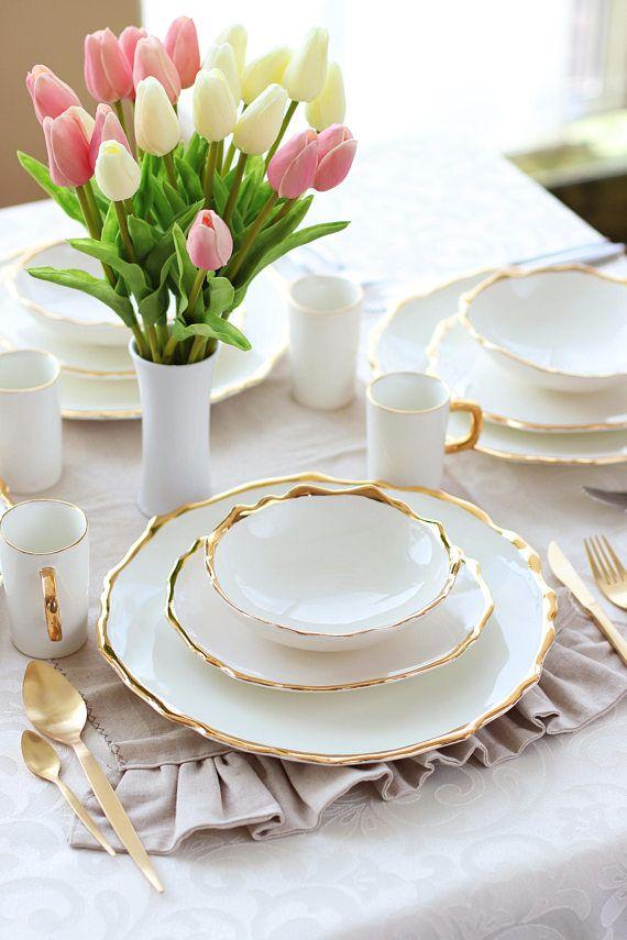 Organic dinnerware Stoneware dinner set Tapas plate Stoneware dinnerware Ceramic dinner set Pottery dinner set Wedding dinnerware Pottery dinnerwaru2026 & Organic dinnerware Stoneware dinner set Tapas plate Stoneware ...