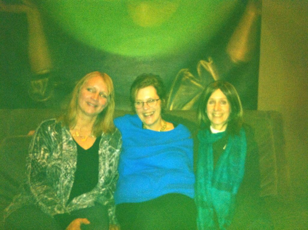 Liz, Susan and Doreen have a great time at the Wine Loft.