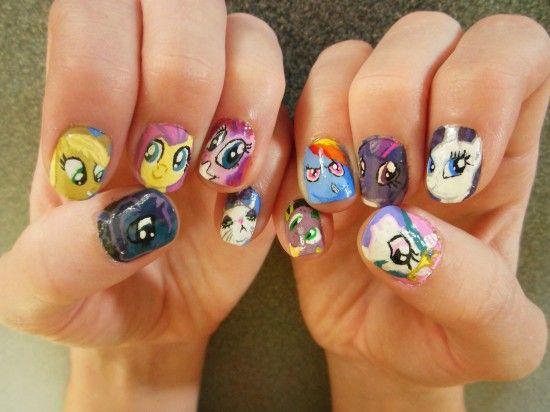 little pony nails - google