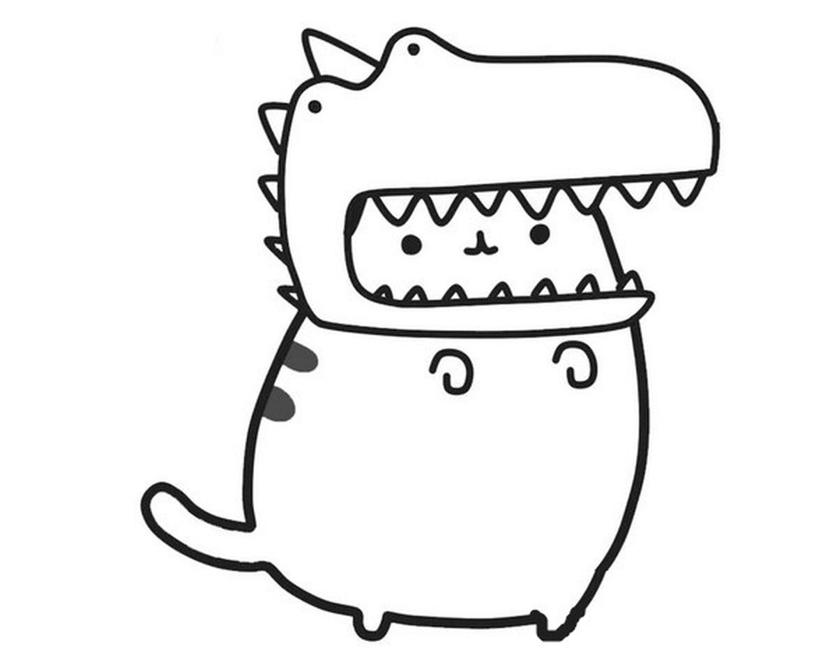 Kolorowanki Pusheen Pobierz I Wydrukuj Together Magazyn Dinosaur Coloring Pages Cat Coloring Page Unicorn Coloring Pages
