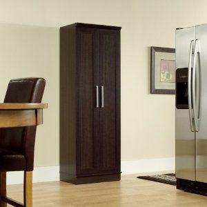 Amazon.com: $170.00 HomePlus Storage Cabinet Dakota Oak Finish/Brushed Nickel Handles: Home Improvement