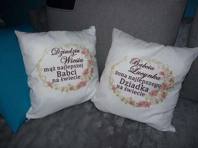 Z Perspektywy Mamy Pomysl Na Dzien Babci I Dziadka Last Minute Diy Throw Pillows Gifts Pillows