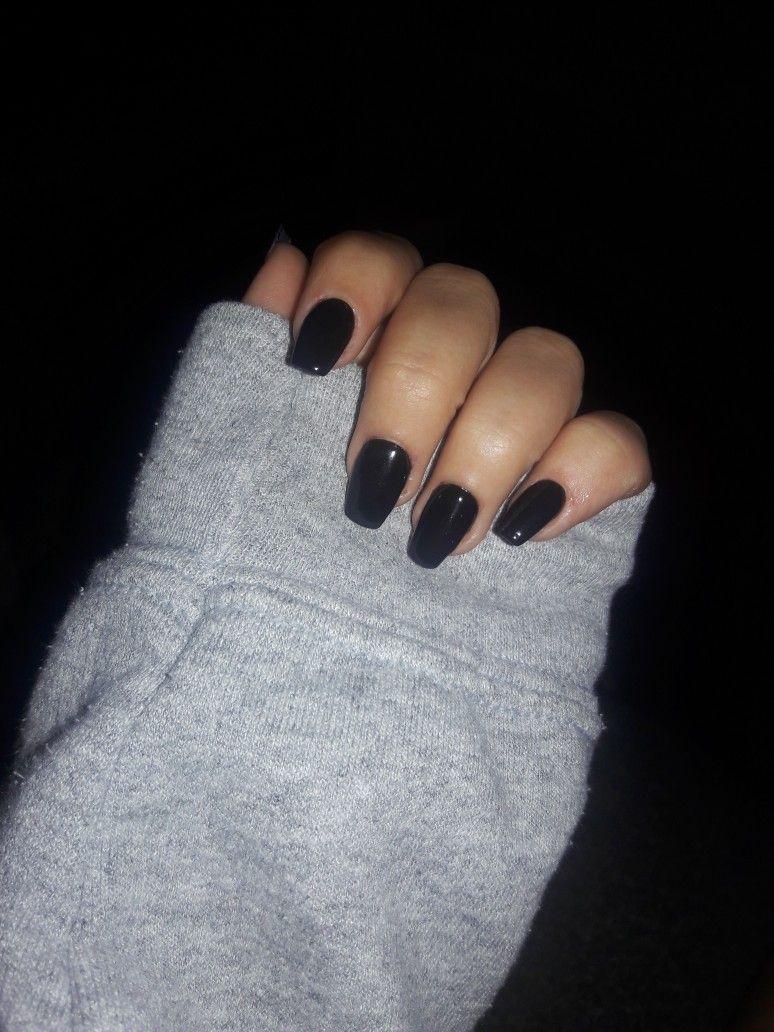 Short Black Coffin Nails Follow Me Ninaajaade Square Acrylic Nails Black Coffin Nails Short Acrylic Nails