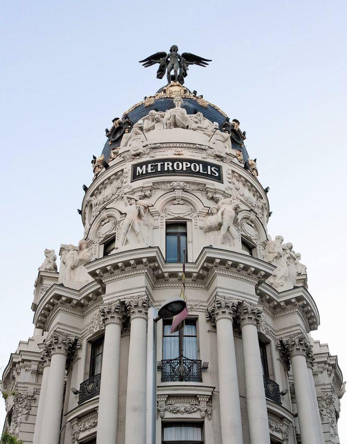 edificio metropolis madrid s most famous building pinterest