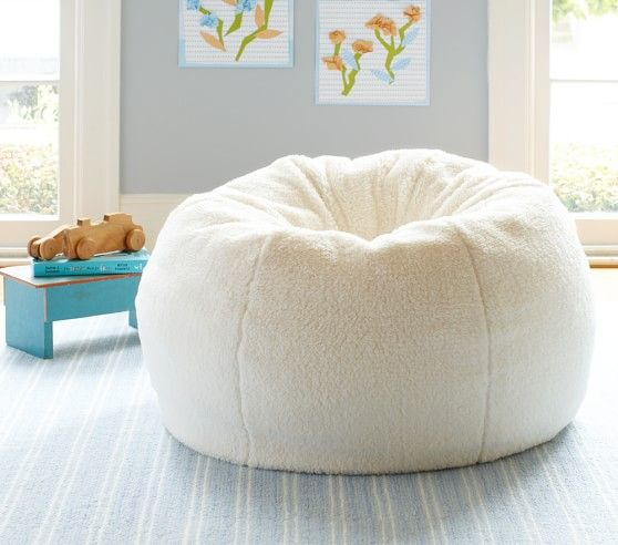 Incroyable Sherpa Anywhere Beanbag | Pottery Barn Kids | Cream Sherpa
