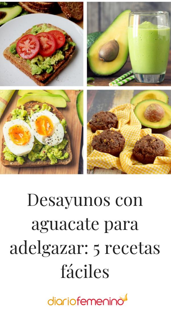 recetas con aguacate para dietas