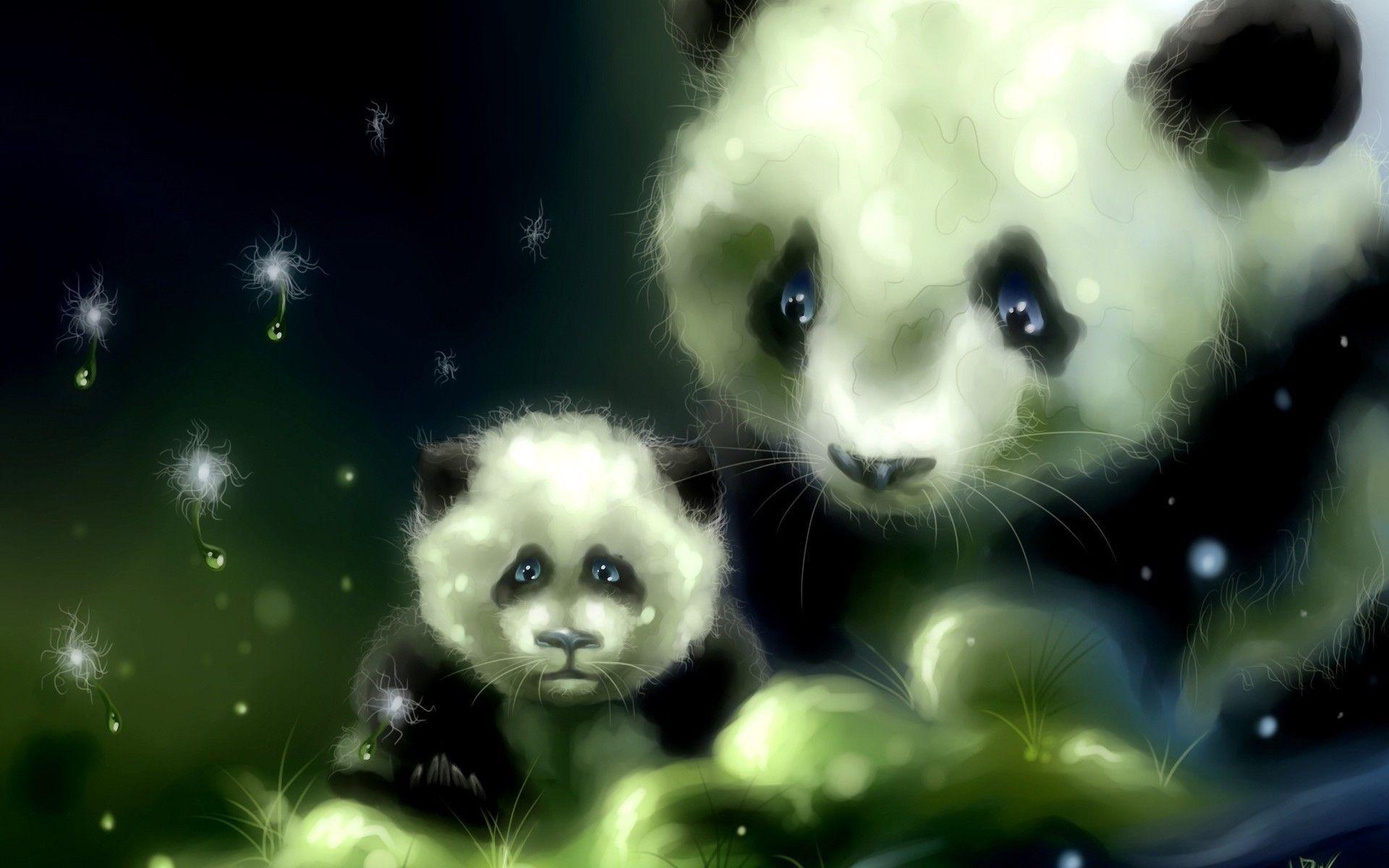 Cute Panda Backgrounds Wallpaper Cave Panda Background Baby Animal Art Panda Bears Wallpaper