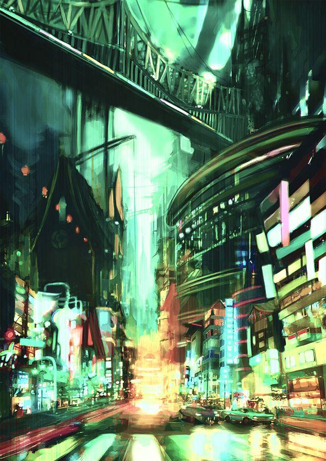 City speedpaint #1 by outstarwalker on deviantART