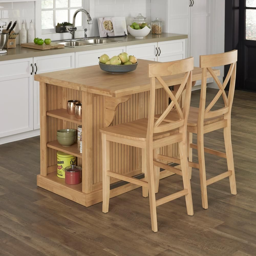 Home Styles Nantucket Maple Kitchen Island With Seating 5055 948g The Depot