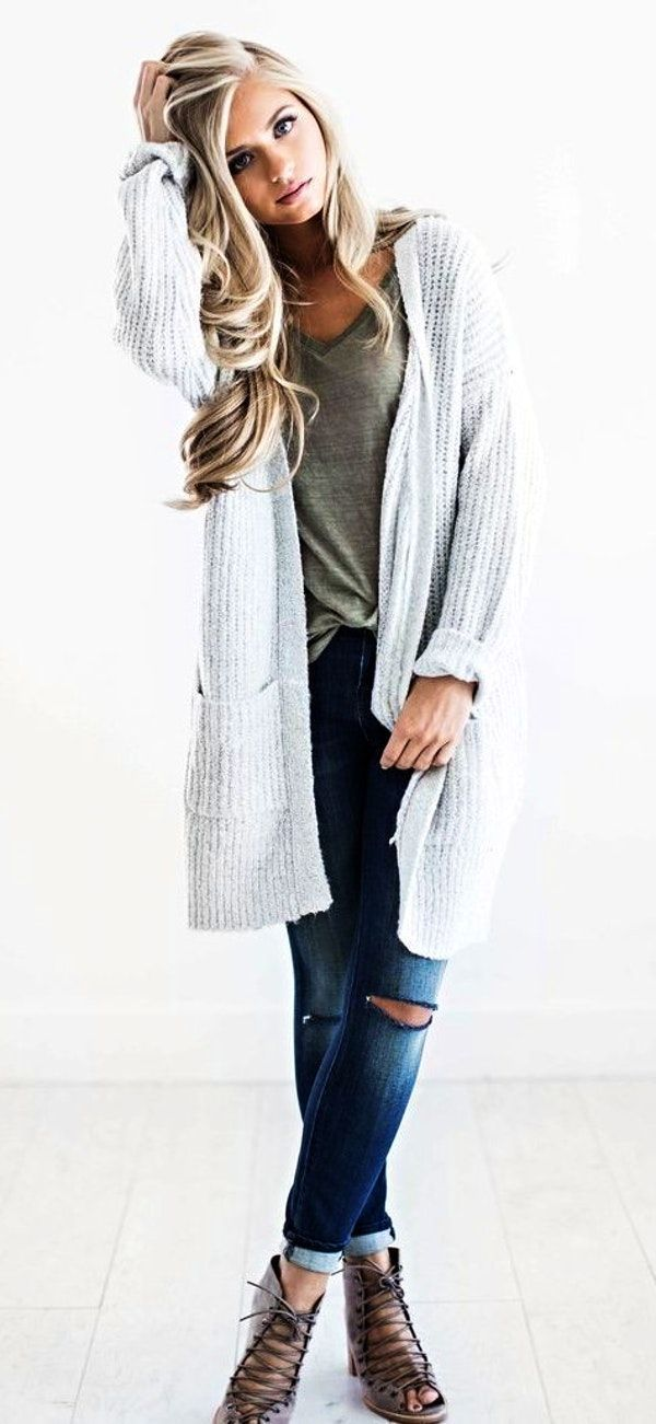 Summer Outfits Awesome Sweaters Light Grey Sweater Fall Fashion