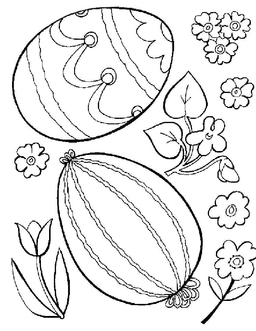 Free Printable Easter Egg Coloring Pages For Kids | Pinterest ...