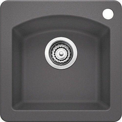 Blanco 15 Inch Diamond Single Bowl Bar Sink Cinder 441477 Bar Sink Drop In Kitchen Sink Sink