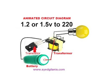 How To Make 1 5v To 220v Ac Inverter Simple Electronic Circuit Components Circuit Diagram Simple Electronic Circuits Electronics Circuit Circuit Components