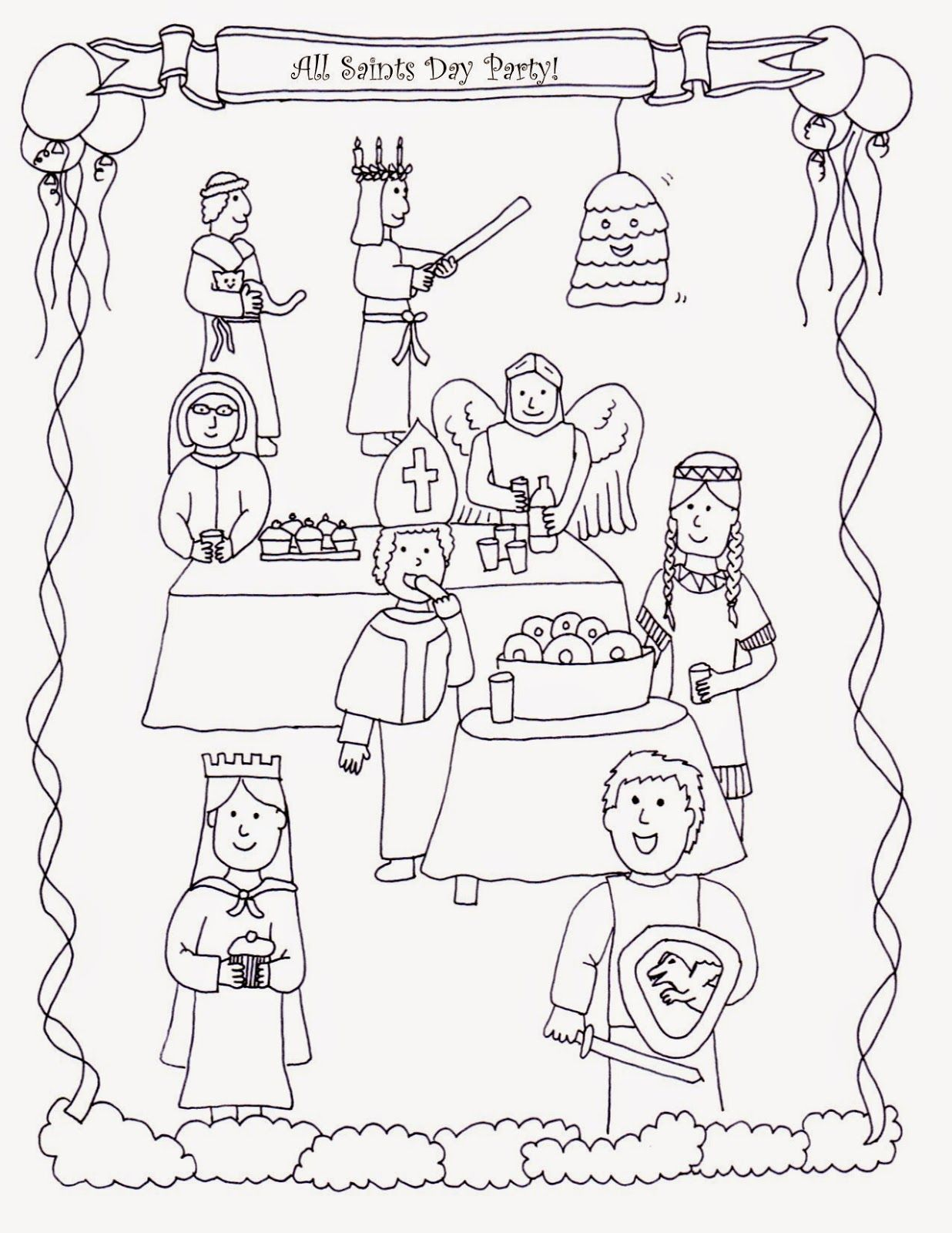 Drawn2bcreative All Saints Day Coloring Page