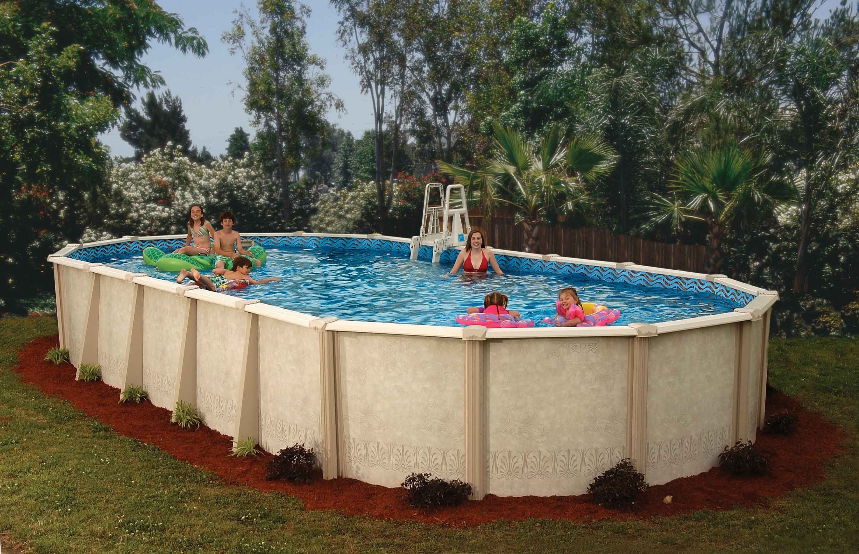 Aesthetic fiberglass backyard pool superstore with simple Above ground pool privacy