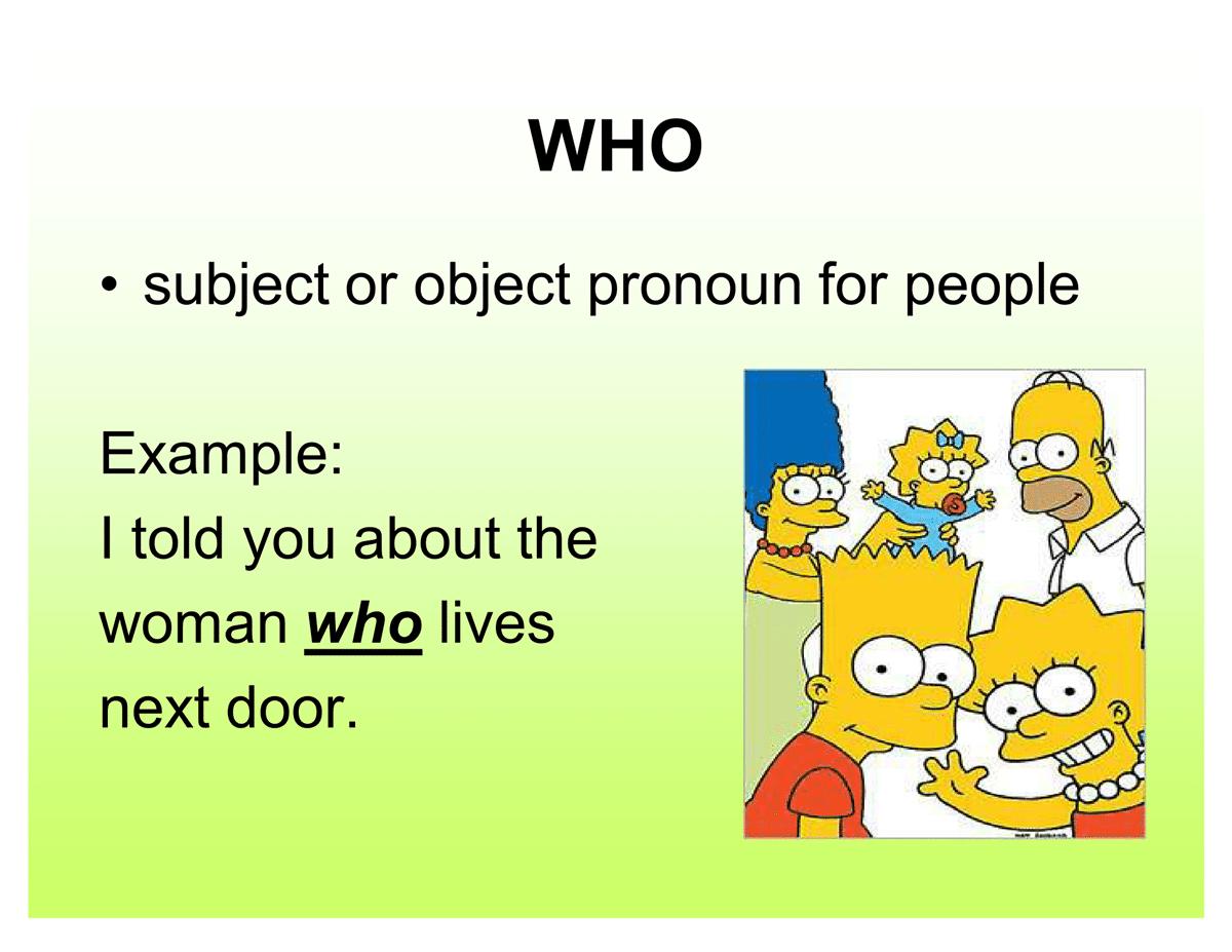 English Grammar Relative Pronouns