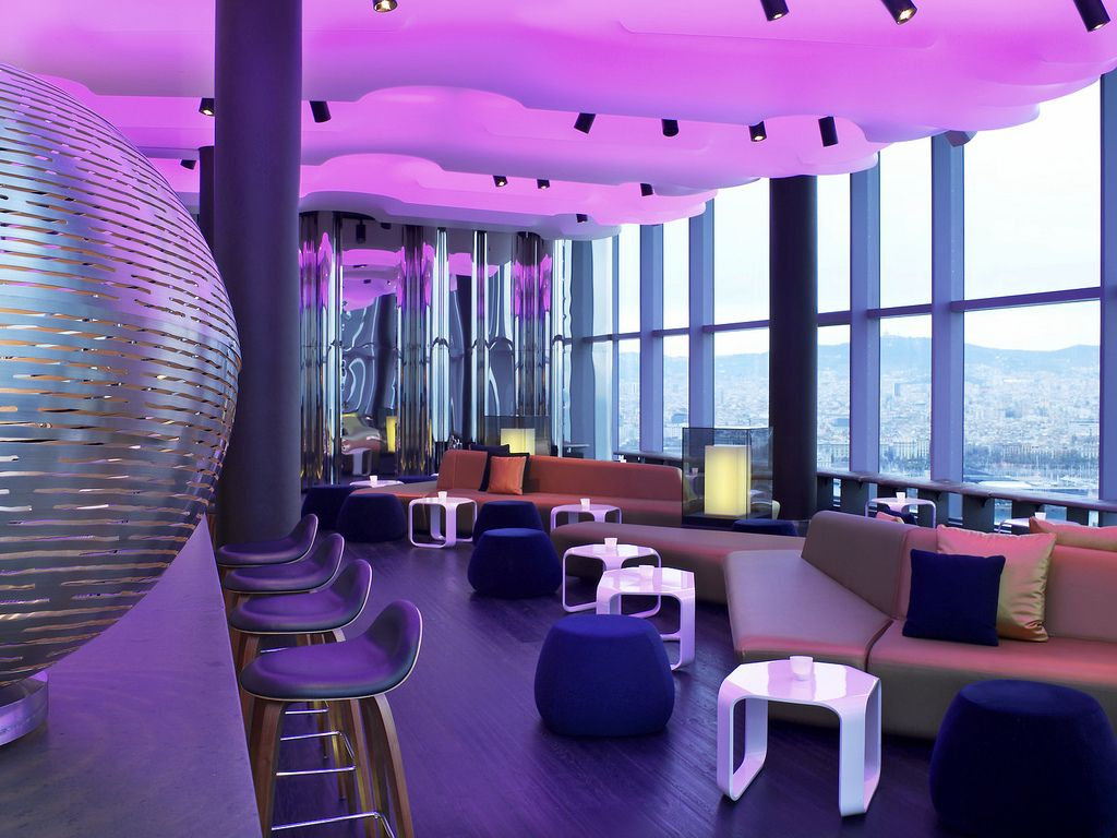 Located on the 26th floor of the w hotel barcelona for W barcelona bar