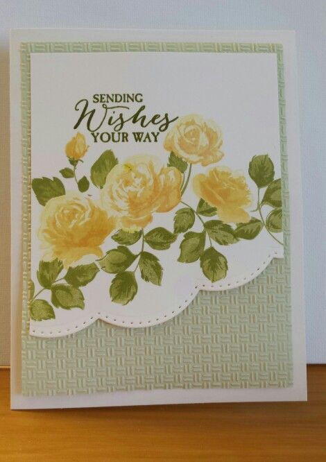 Featuring Altenew's Vintage Roses, SKU 670604, available at www.addictedtorubberstamps.com  Card creator unknown.