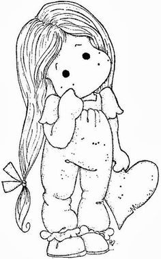 Gorjuss Santoro Stamps clipart and coloring pages - Google Search ... | 379x236