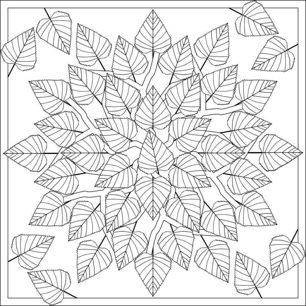 Fall Coloring Pages for Adults | Mandala coloring pages ...