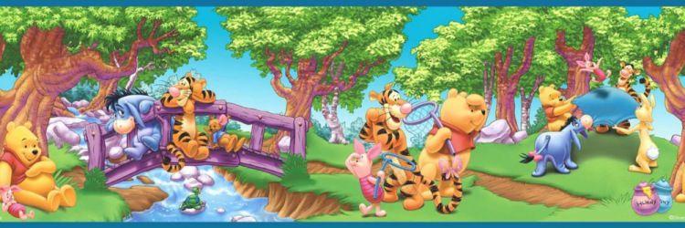 Бордюр для декупажа. Winnie the pooh friends, Disney