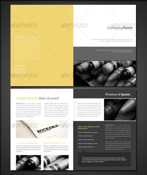 Half Fold Brochure 2 Brochures, Brochure template and Layout design