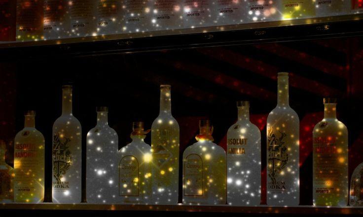 Led Wall Mount Liquor Display Led Bottle Glorifier
