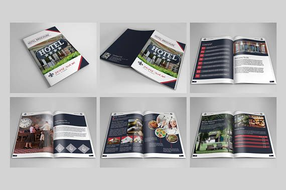 Hotel Brochure Template Photoshop Template Instant Online Shop