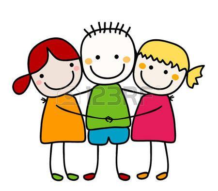 Bambini Stilizzati Migliori Amici Disegni Bambini Idee Per
