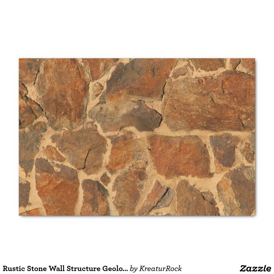 Rustic Stone Wall Structure Geology Warm Glow Tissue Paper