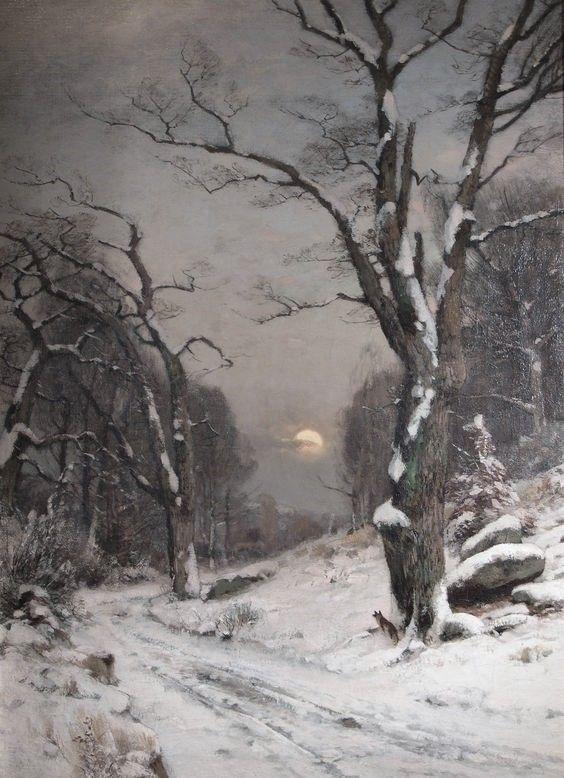 Winterbird tableaux paysage hiver peinture hiver et peinture paysage - Paysage enneige dessin ...