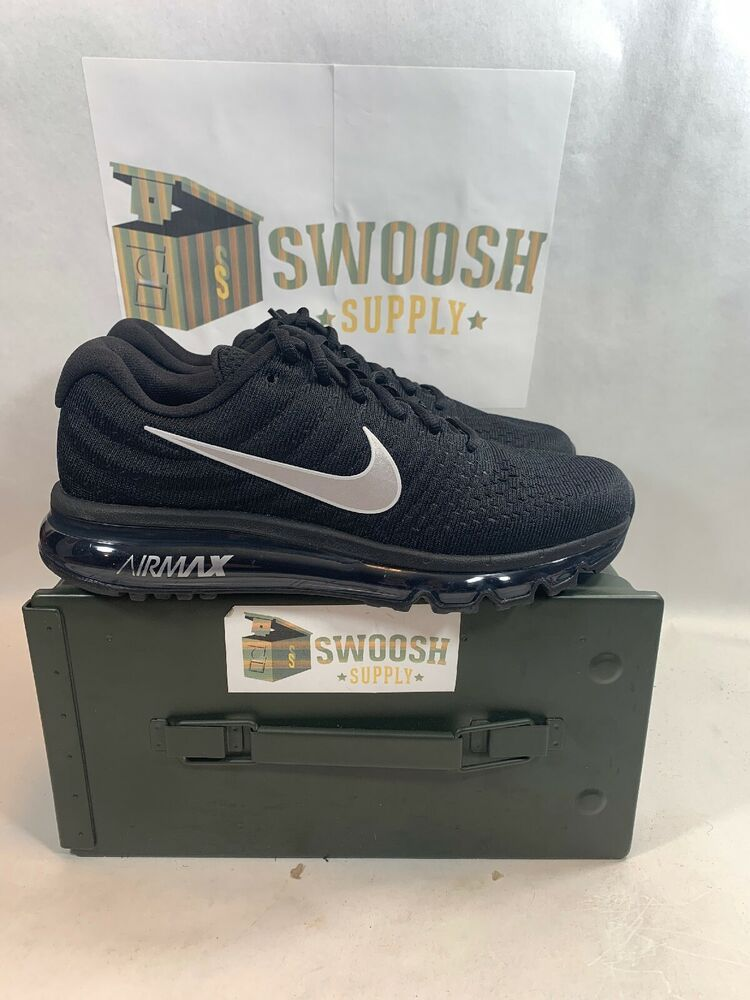 Nike Air Max 2017 Size 8 Men s Running Shoe Black White-Anthracite 849559  001  Nike  RunningShoes ceec2cd80fff
